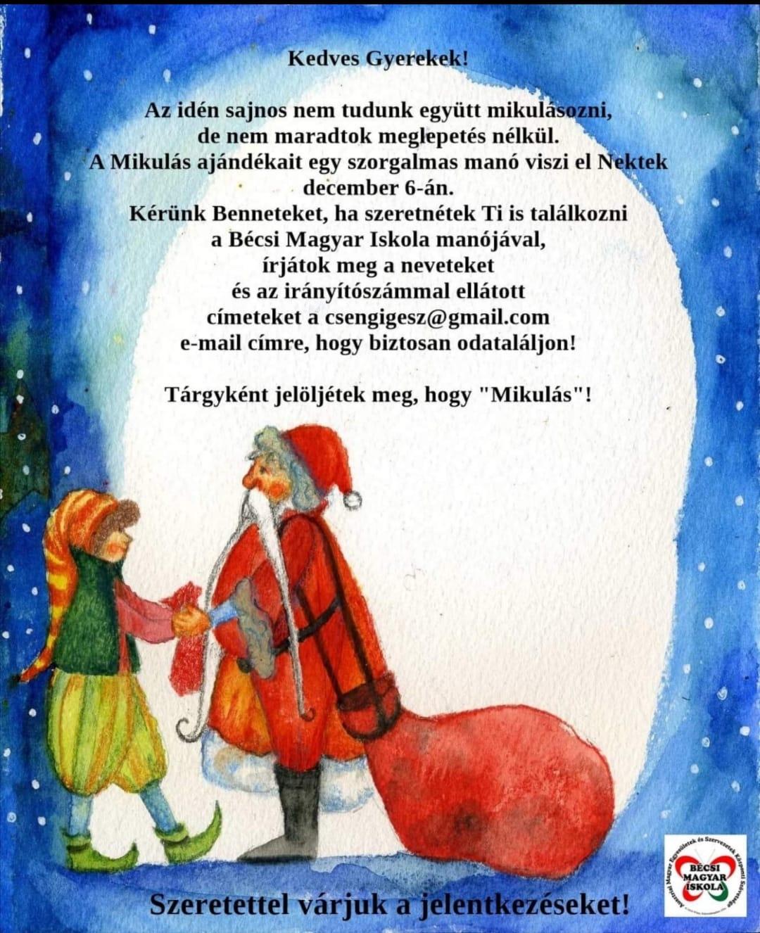 Mikulás plakát
